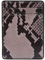 Dries Van Noten Leather Snake Print Card Holder