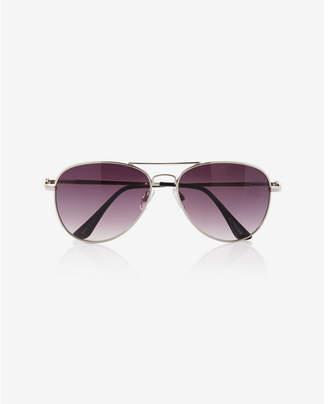 Express Silver Aviator Sunglasses