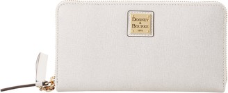 Dooney & Bourke Saffiano Large Zip Around Wristlet