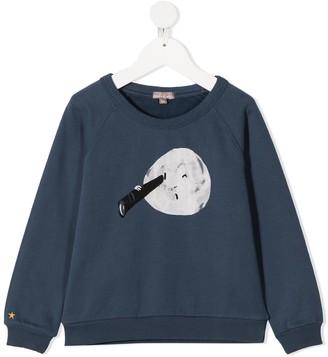 Emile et Ida Night Blue Moon sweatshirt