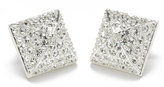 Pave Stud Earrings in Silver or Gold