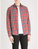 The Kooples Checked fitted cotton-blend shirt
