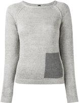 Eleventy patch pocket jumper - women - Linen/Flax - L