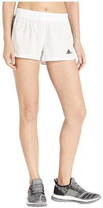 adidas 3-Stripe Woven Shorts (White/Black) Women's Shorts