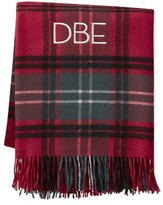 Williams-Sonoma Williams Sonoma Novelty Patterned Jacquard Cashmere Throw, Plaid, Red