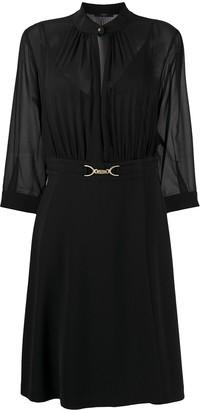 Seventy Semi Sheer Midi Dress