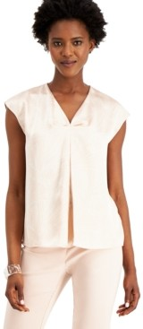 Alfani Printed Inverted-Pleat Top, Created for Macy's