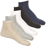 John Lewis Ankle Socks, Pack Of 5, One Size