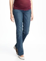 Old Navy Maternity Side-Panel Straight-Leg Jeans