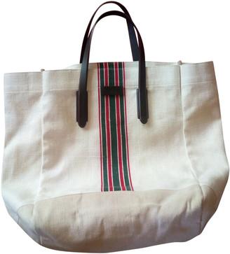 Gucci Ecru Cloth Handbags