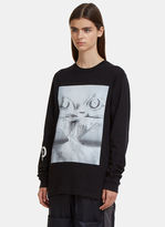 PAM Long Sleeve Volcano Eyes T-Shirt in Black