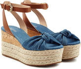 MICHAEL Michael Kors Denim Wedges with Leather
