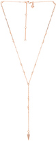 Rebecca Minkoff Pave Spike Beaded Y Necklace
