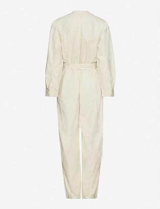 Samsoe & Samsoe Berna belted organic cotton-twill jumpsuit