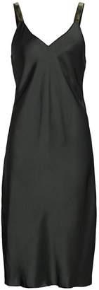 Helmut Lang Velvet Strap Slip Dress
