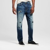 Mossimo Men's Athletic Fit Dark Destroy Wash Jeans