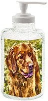 Nova Scotia Duck Tolling Reetriever 'Seymour' - 16 ounce Glass Soap/lotion Dispenser By Doggylips