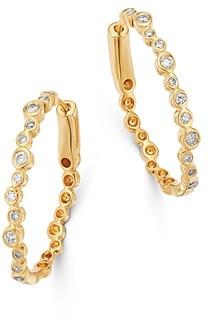 Bloomingdale's Bezel-Set Diamond Oval Hoop Earrings in 14K Yellow Gold, 0.35 ct. t.w. - 100% Exclusive