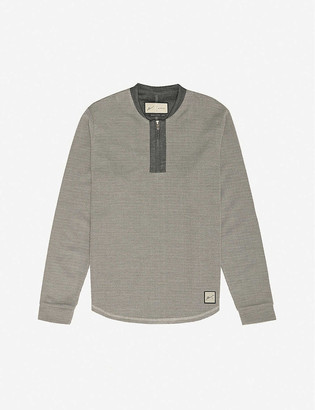 Prevu Seville zip-up woven top