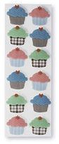 Martha Stewart Cupcakes Blue Brown Pink Dimensional Stickers 12 Pieces