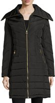 MICHAEL Michael Kors Wide-Collar Puffer Coat, Black