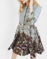 Ted Baker Entangled Enchantment collarless coat