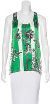 Erdem Silk Printed Top w/ Tags