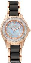 Burgi Women's Crystal Ceramic Swiss Watch