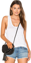 Black Orchid Distressed Tank in White. - size M (also in XS)