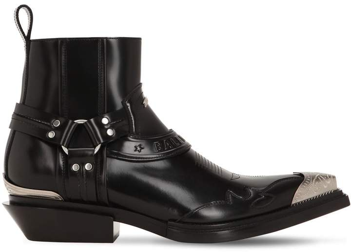 99eb2181037 40MM SANTIAGO LEATHER WESTERN BOOTS