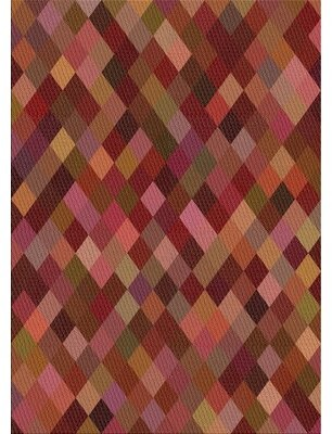 East Urban Home Patterned Tan/Pink/Green Area Rug Rug Size: Rectangle 5' x 7'