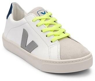 Veja Kid's Leather V-Logo Sneakers