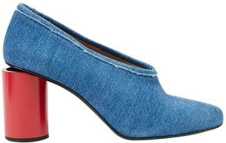 Acne Studios Blue Cloth Heels