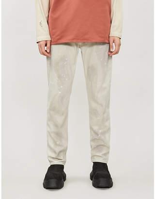 A-Cold-Wall* Daniel Arsham x paint-splashed straight-leg jeans