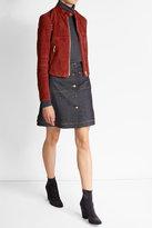 Theory Embellished Suede Jacket