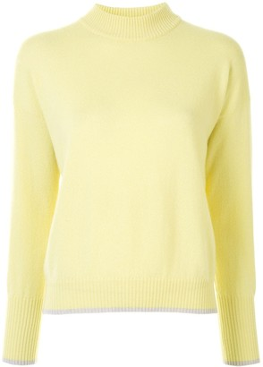 Lorena Antoniazzi Mock-Neck Drop-Shoulder Jumper