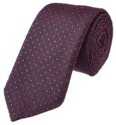 Canali Purple & Pink Polka Dot Silk Tie.