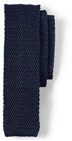 Lands' End Men's Long Classic Silk Knit Necktie-Regiment Navy