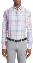 Paul & Shark Men's Regular Fit Plaid Sport Shirt
