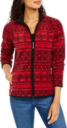Karen Scott Petite Fairisle Zippered Jacket