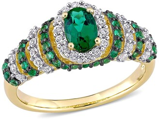 Delmar Gold Plated Sterling Silver Emerald Vintage Ring
