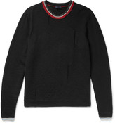 Lanvin - Distressed Striped Wool Sweater