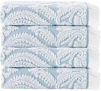 Enchante Home Laina 4-Piece Turkish Cotton Bath Towel Set
