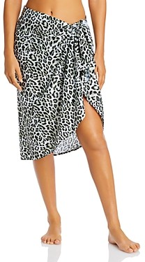 Peixoto Wild Printed Swim Cover-Up Sarong