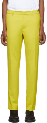 424 Yellow Wool Trousers