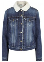 Kenzo Trucker Faux Shearling-lined Denim Jacket