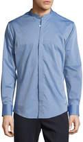 Neiman Marcus Luxury Weave Sport Shirt, Blue