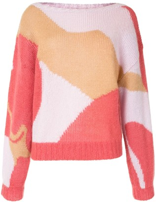 Escada Sport Abstract Print Jumper