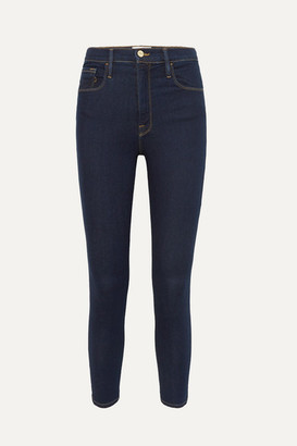 Frame Ali High-rise Skinny Jeans - Dark denim