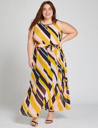 Lane Bryant Printed Strappy-Neck Maxi Dress